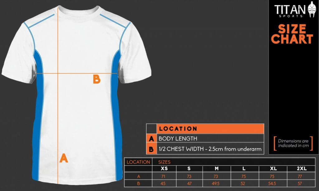 Titan Sports Size Chart (Customer Version)