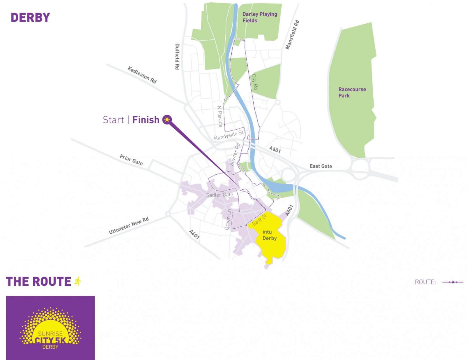Map Of Uk Derby.Derby Sunrise City 5k